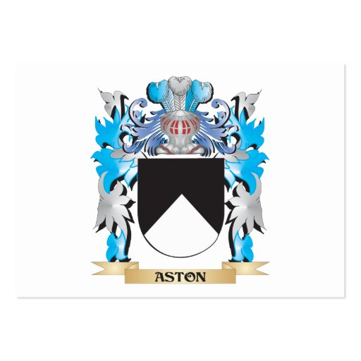 Aston Coat Of Arms Business Card Template