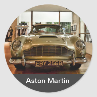 Aston MArtin Round Sticker