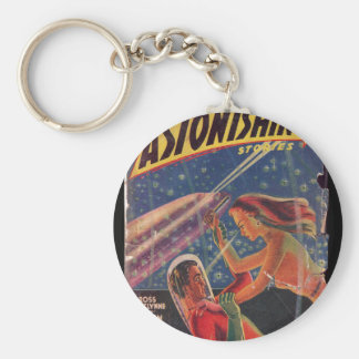 Astonishing Stories v01 n03 (1940-06.Popular)_Pulp Basic Round Button Keychain