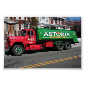 Astoria Fuel Oil Truck Poster