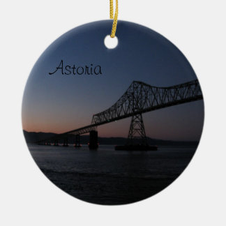 Astoria-Megler Bridge, Oregon Ceramic Ornament