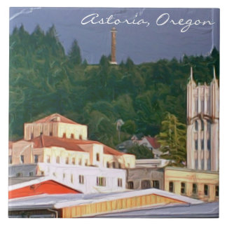 "Astoria Oregon Large (6"" X 6"") Ceramic Photo Tile"
