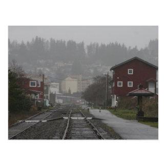 Astoria Oregon on a rainy afternoon Postcard