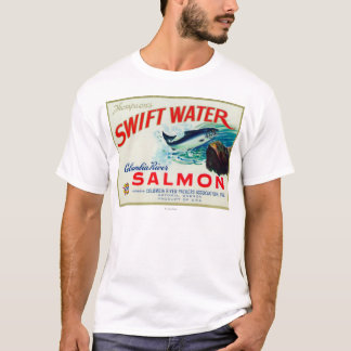 Astoria, Oregon - Thompson's Swift Water Salmon T-Shirt