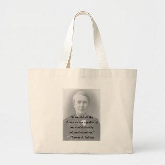 Astound Ourselves - Thomas Edison Large Tote Bag