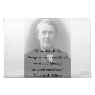 Astound Ourselves - Thomas Edison Placemat