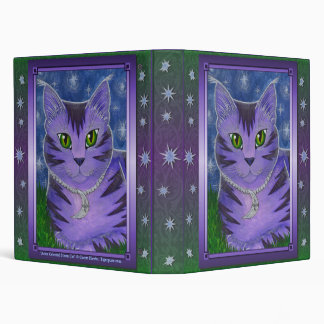 Astra Celestial Moon Star Cat Fantasy Avery Binder