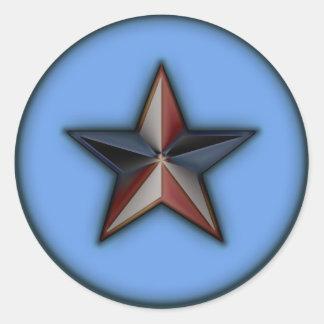 Astra Metallica Blue Round Sticker