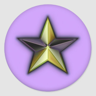 Astra Metallica Lavender Round Sticker