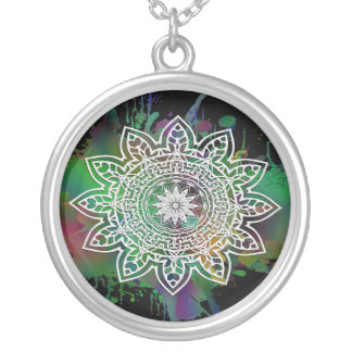 Astra Psychedelica Silver Plated Necklace