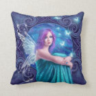 Astraea Fairy with Butterflies Throw Pillow