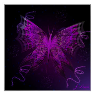 Astral Butterfly Poster