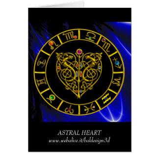 ASTRAL HEART Zodiac Birthday Card