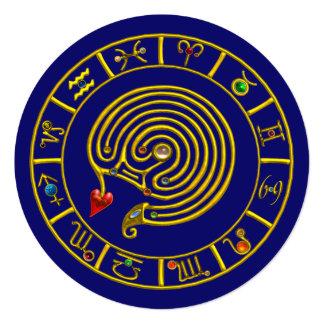 ASTRAL LABYRINTH GOLD ZODIAC CHART Astrology Card