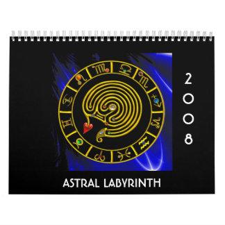 ASTRAL LABYRINTH WALL CALENDAR