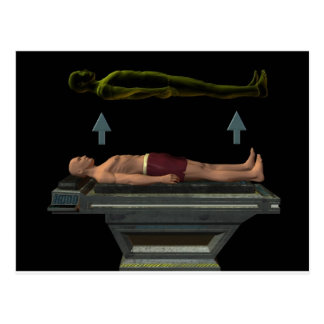 Astral Projection, Out-of-Body Experience Postcard