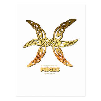 Astrocelt  series Pisces Postcard