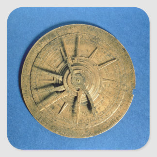 Astrolabe for calculating horoscopes, European Square Sticker