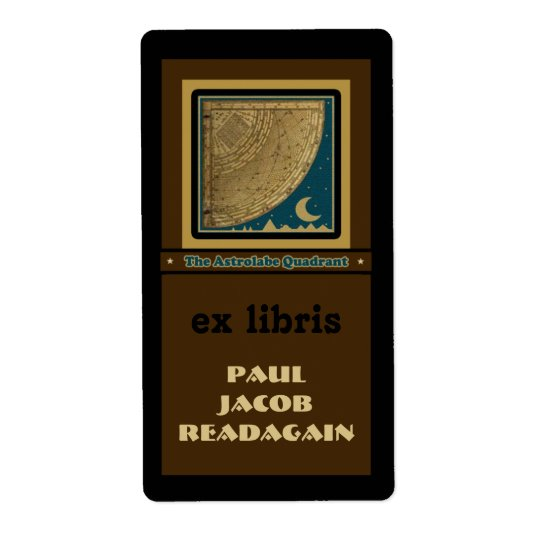 Astrolabe Quadrant  bookplate