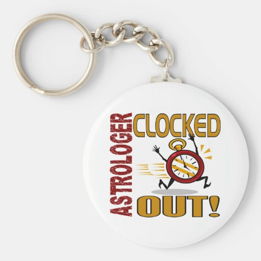 Astrologer Clocked Out Key Chain