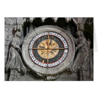 Astrological Clock Chartres Card