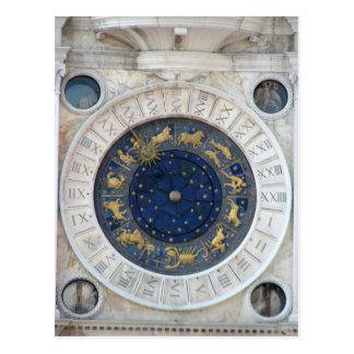 Astrological Clock,  Piazza San Marco, Venice Postcard