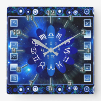 Astrological Square Wall Clock
