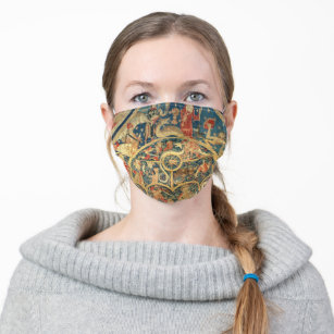 Astrological tapestry cloth face mask