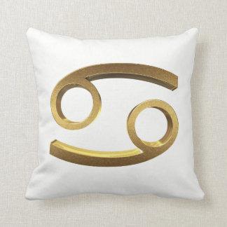 Astrological Zodiac Signs Sun Sign Cancer Gold Throw Pillow