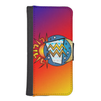 astrology,Aquarius iPhone SE/5/5s Wallet Case