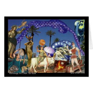 astrology art chart  card