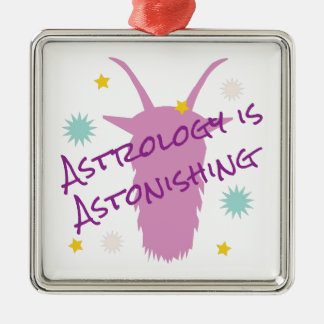 Astrology Astonishing Silver-Colored Square Ornament
