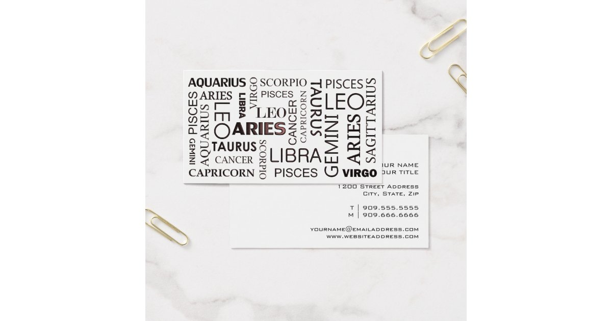ASTROLOGY Business Card | Zazzle