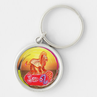 ASTROLOGY collection Silver-Colored Round Keychain