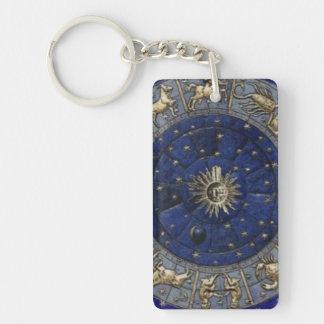 Astrology Double-Sided Rectangular Acrylic Keychain