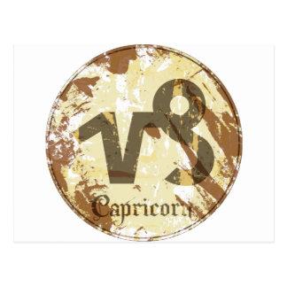 Astrology Grunge Capricorn Postcard