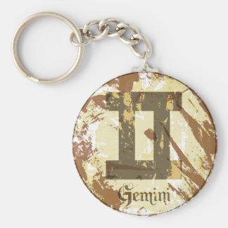 Astrology Grunge Gemini Key Chain
