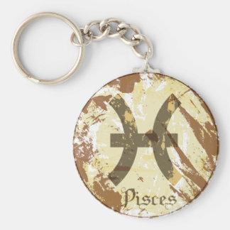 Astrology Grunge Pisces Keychains