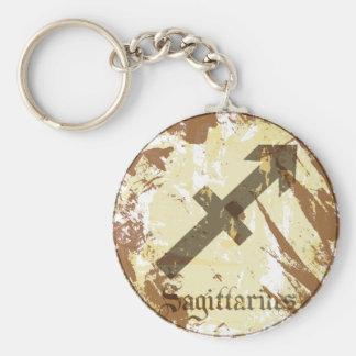Astrology Grunge Sagittarius Keychain