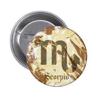 Astrology Grunge Scorpio Button
