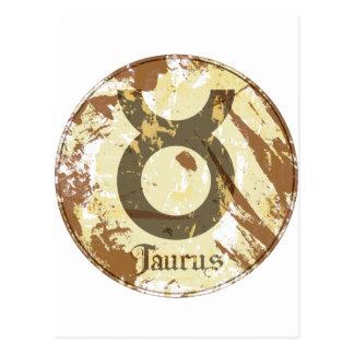 Astrology Grunge Taurus Postcard