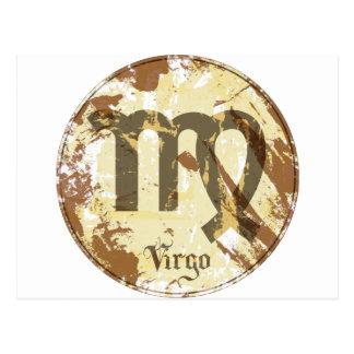 Astrology Grunge Virgo Postcard