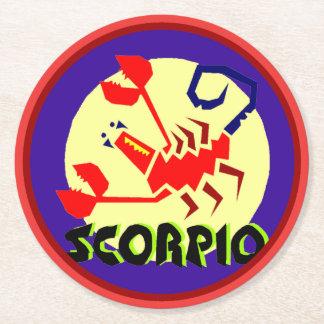 Astrology Horoscope Sign Scorpio Round Coastera Round Paper Coaster