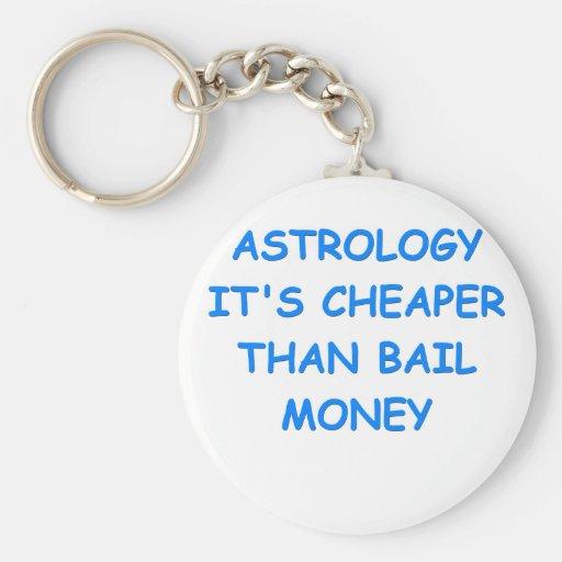 astrology keychain