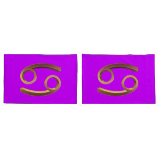 Astrology Zodiac Sign Cancer Pink Violet Gold Pillowcase
