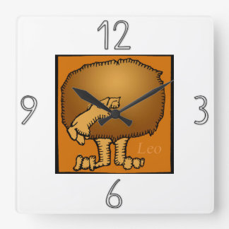 Astrology Zodiac Sign Leo Wall Clock