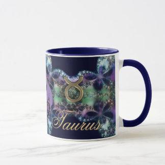 Astrology Zodiac Sign Taurus the Bull Purple/Gold Mug
