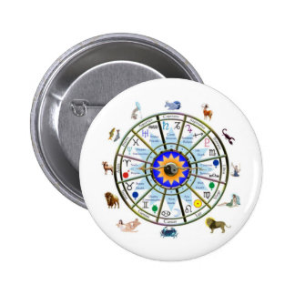 Astrology - ZODIAC-  Signs 2 Inch Round Button