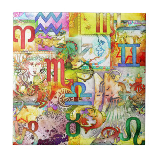 Astrology Zodiac Symbols and Signs Ceramic Tiles