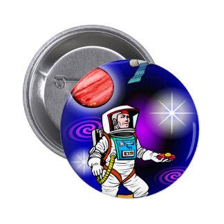 astronaut 2 inch round button